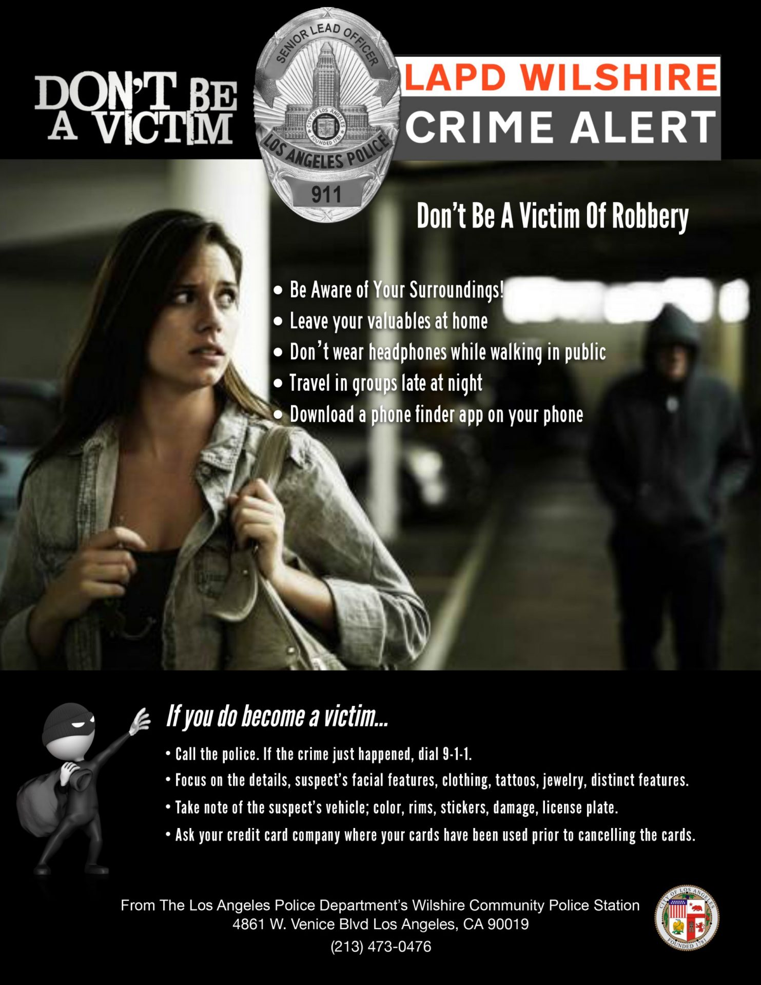 Los Angeles Police Department Crime Alert - Renault Occasion