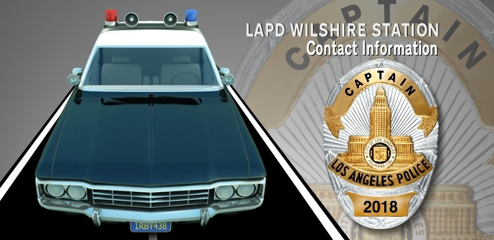 LAPD WILSHIRE STATION CONTACT INFORMATION | Melrose Action