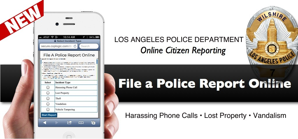 L A P D  Begins Ability To File Certain Crime Reports Online